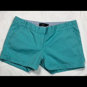 "J Crew 4"" pale blue chino shorts"